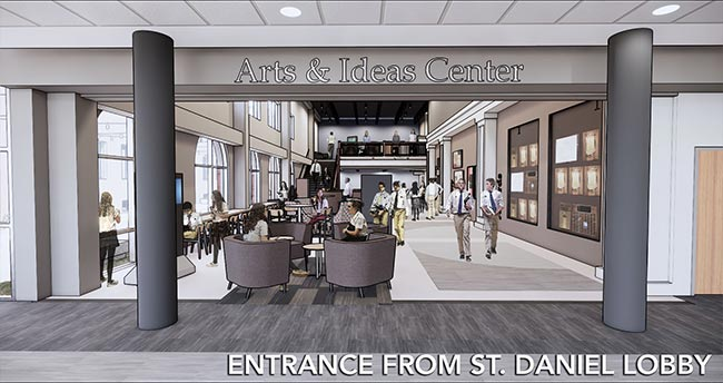 Arts and Ideas Center Daniels Entrance